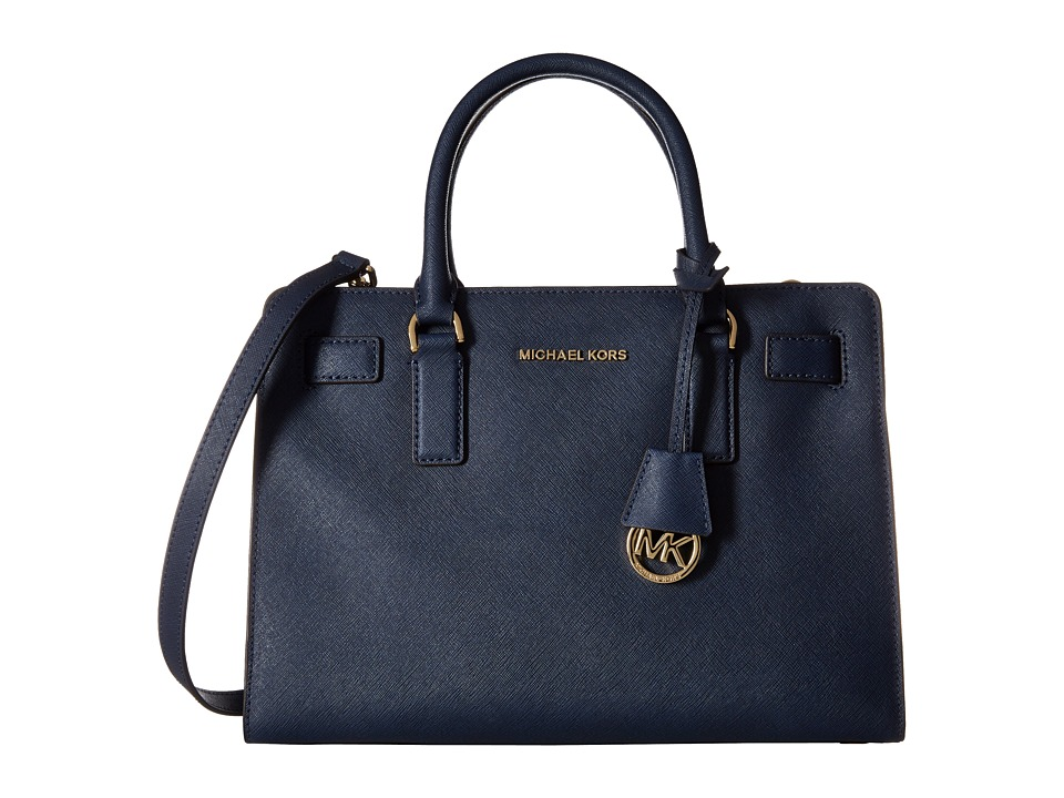 MICHAEL Michael Kors - Dillon Top Zip East/West Satchel (Navy) Satchel Handbags