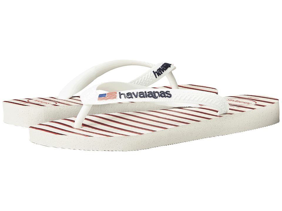 Havaianas Top Americana Sandal (White/Navy) Women