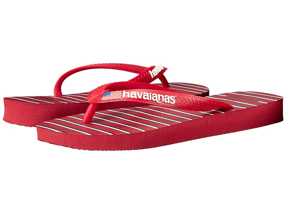Havaianas - Top Americana Sandal (Red/Navy) Women's Sandals
