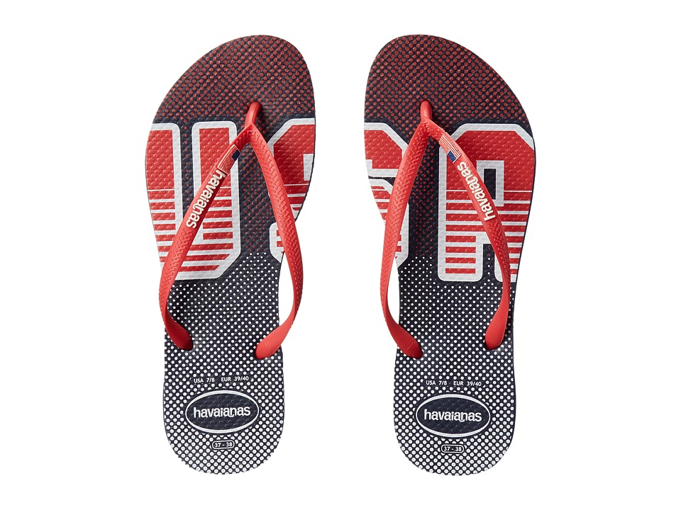 Havaianas - Slim USA Sandal (Navy/Red) Women's Sandals