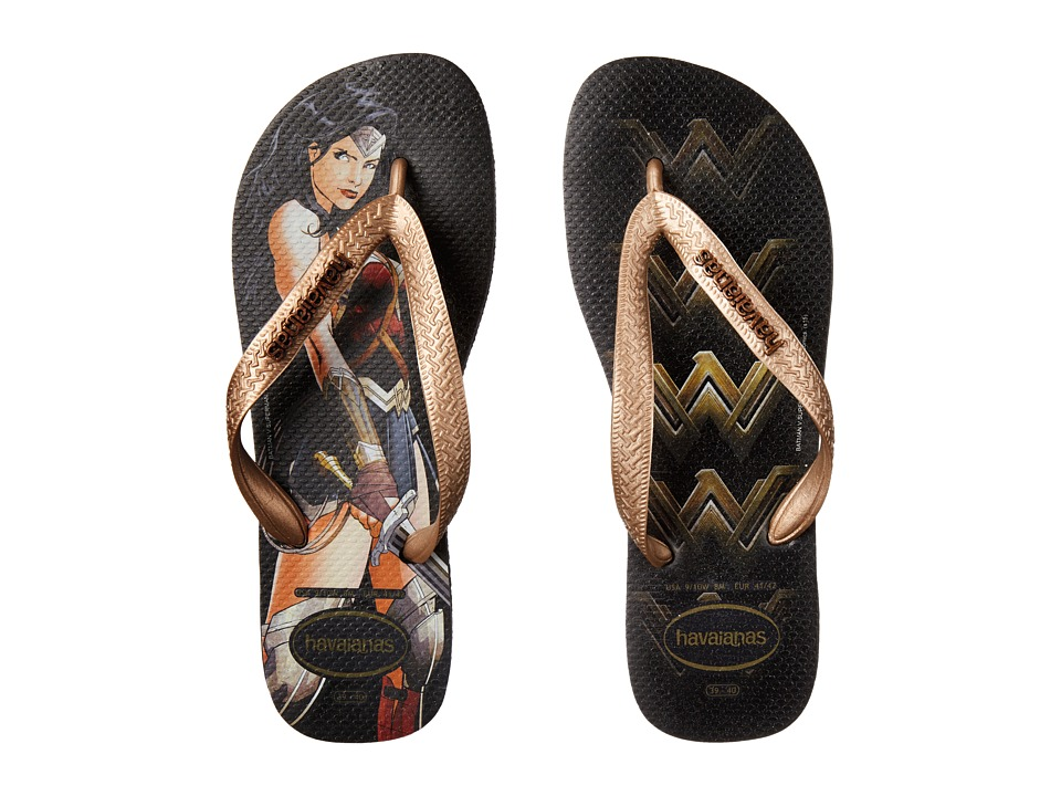 Havaianas - Top Batman V Superman Sandal (Wonder Woman Rose Gold) Women's Sandals