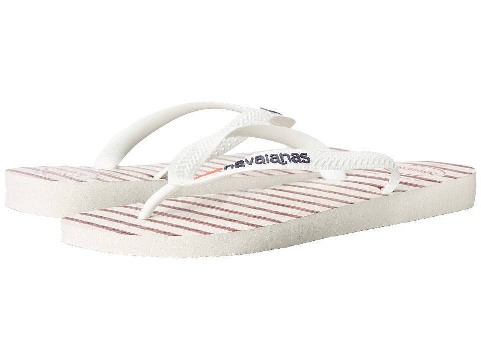 Havaianas Top Americana Sandal (White/Navy) Men