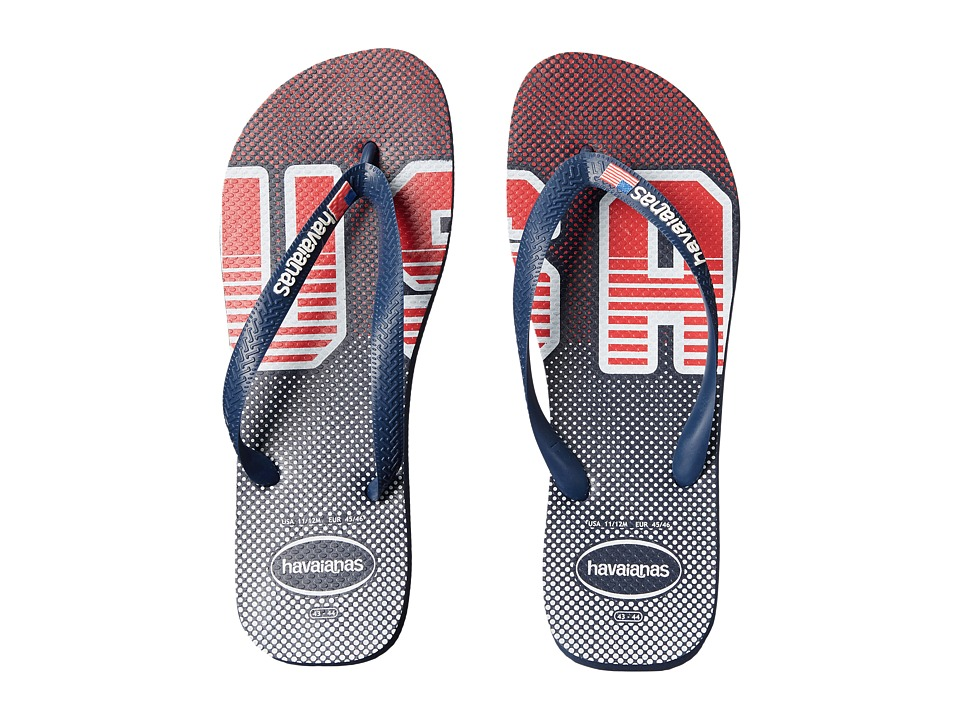 Havaianas Top Americana Sandal (USA Navy/White) Men