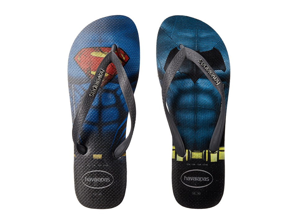 Havaianas - Top Batman V Superman Sandal (Black/Grey) Men's Sandals