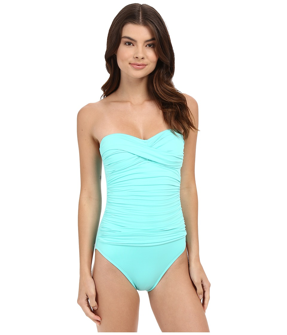 La Blanca - Island Goddess Bandeau One-Piece (Seafoam) Women's Swimsuits One Piece