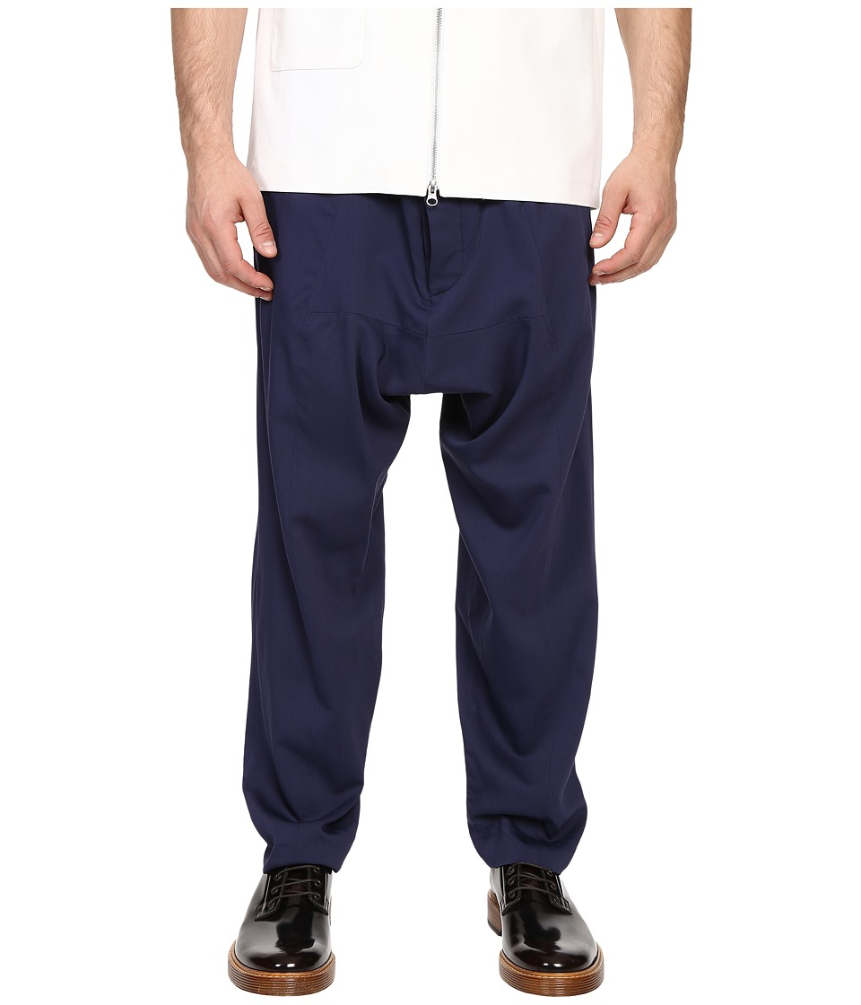 Mohsin - Drawstring Balloon Trousers (Navy) Men's Dress Pants