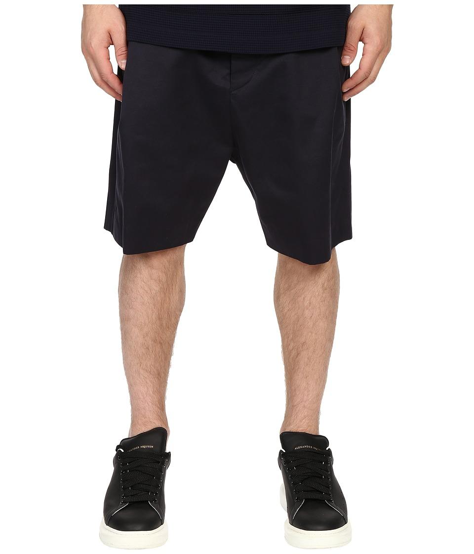 Mohsin - Single Pleat Femi Shorts (Navy) Men's Shorts