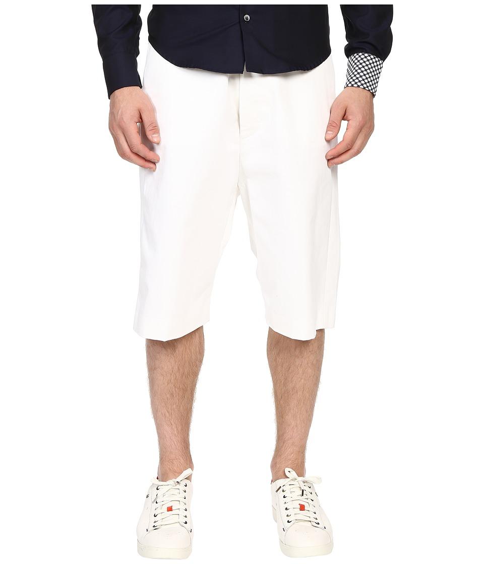 Mohsin - Oversized Marc Shorts (White) Men's Shorts