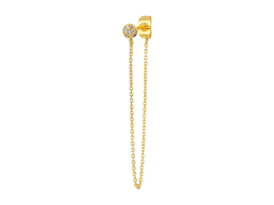 gorjana - Pristine Mini Chain Loop Studs Earrings (Gold) Earring