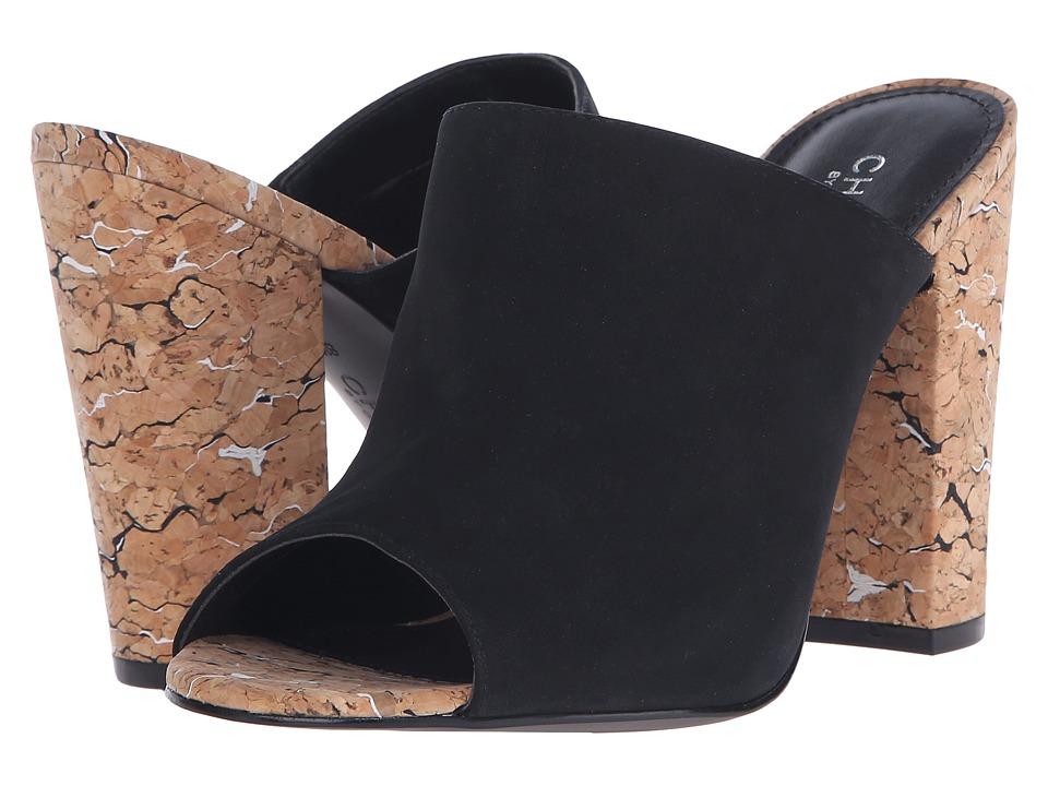 Charles by Charles David - Gansevoort (Black Suede/Cork) Women's Clog/Mule Shoes