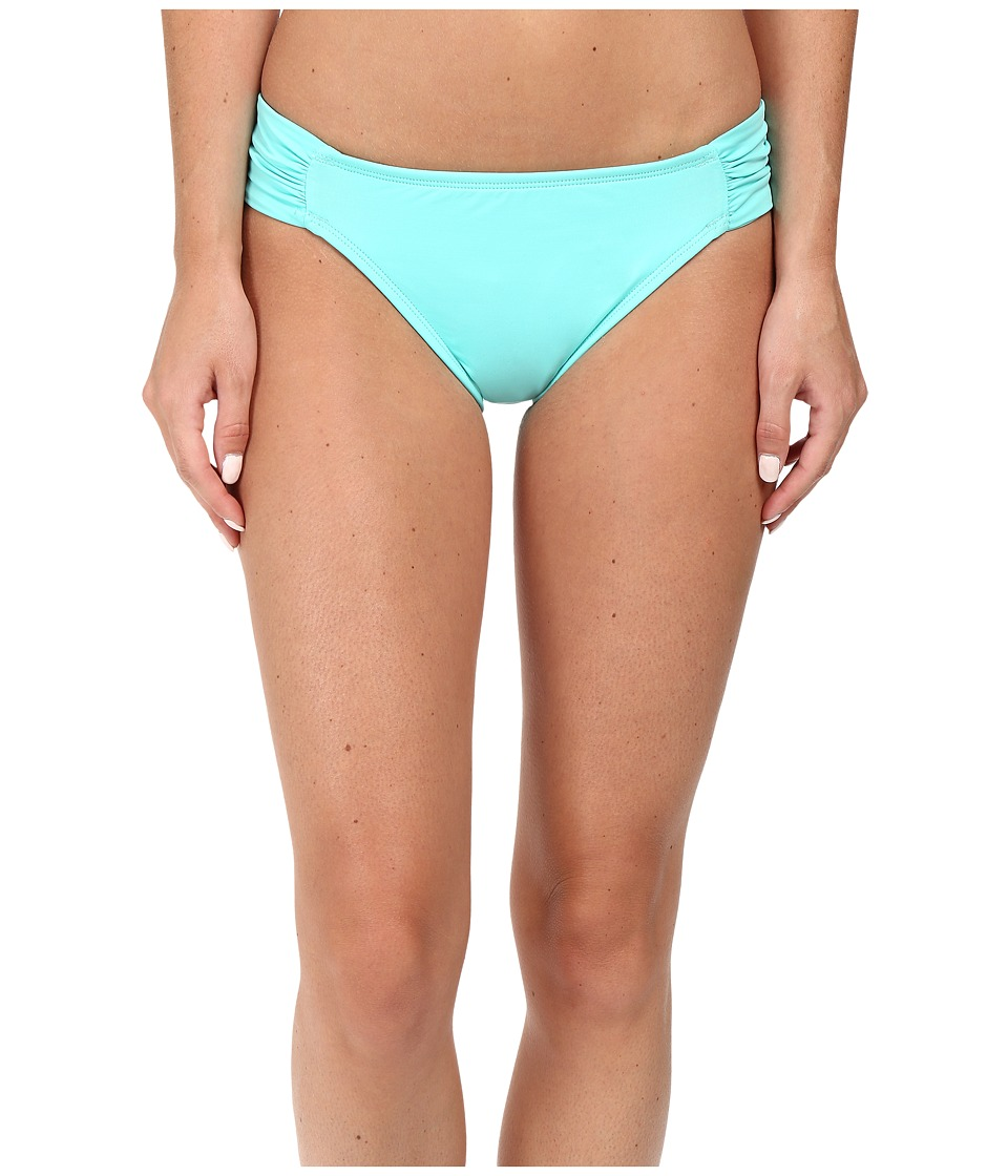 La Blanca - Island Goddess Side Shirred Hipster Bottom (Seafoam) Women's Swimwear