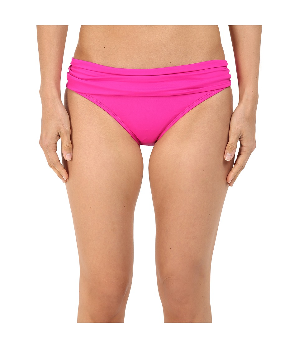 La Blanca - Island Goddess Shirred Waist Hipster Bottom (Punch) Women's Swimwear