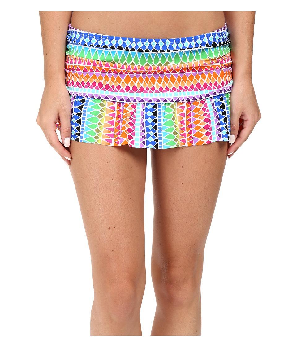 La Blanca - Full Spectrum Ruffle Skirted Hipster Bottom (Multi) Women's Swimwear