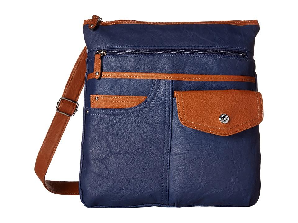 Rosetti - Jean Theory Mid Crossbody (Pacific Navy) Cross Body Handbags