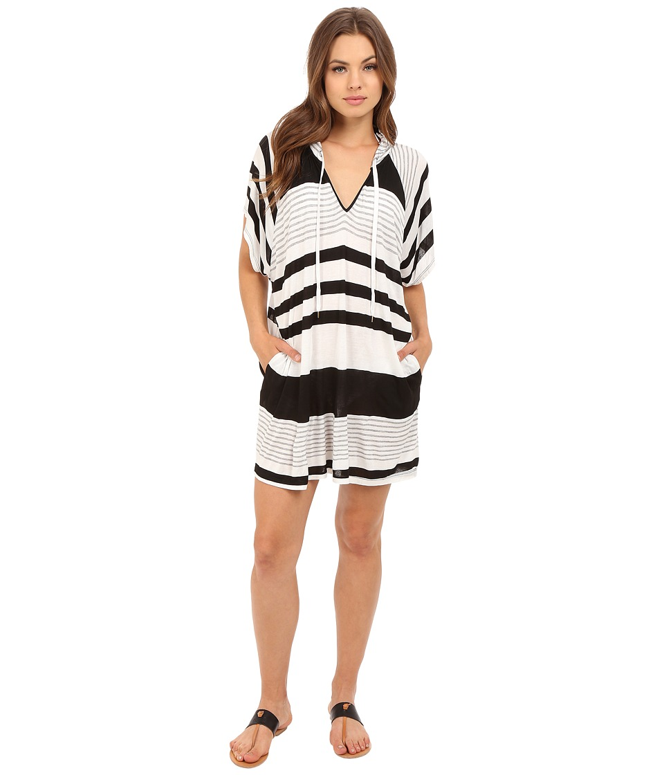 La Blanca - Between The Lines Tunic Cover-Up (Black/White) Women's Swimwear