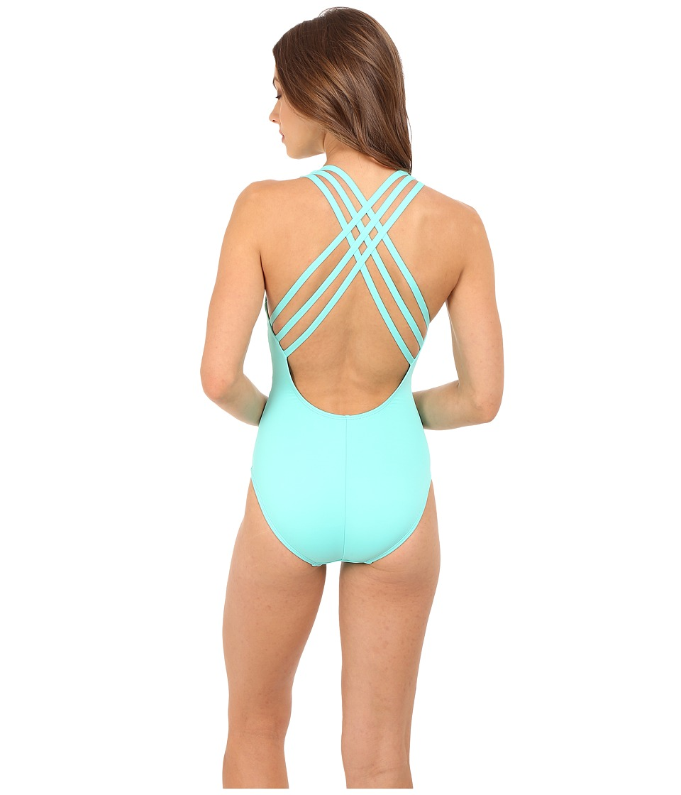 La Blanca - Island Goddess Multi Strap Cross-Back Mio One-Piece (Seafoam) Women's Swimsuits One Piece