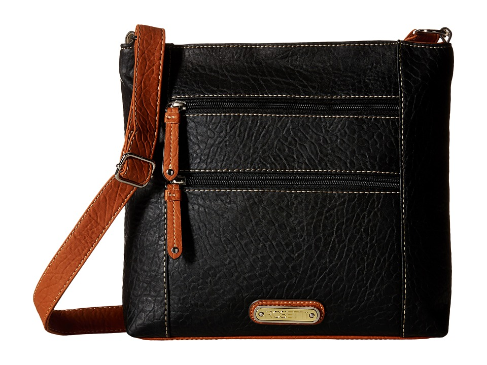 Rosetti - Park Place Large Crossbody (Black) Cross Body Handbags