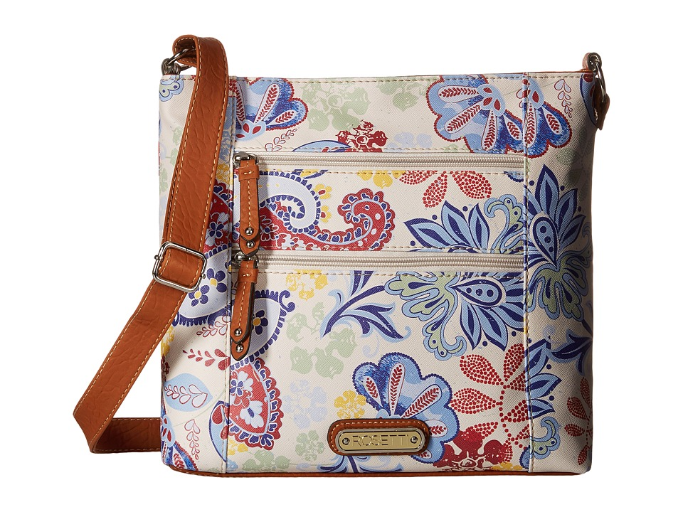 Rosetti - Park Place Large Crossbody (My Fleur Lady Print) Cross Body Handbags
