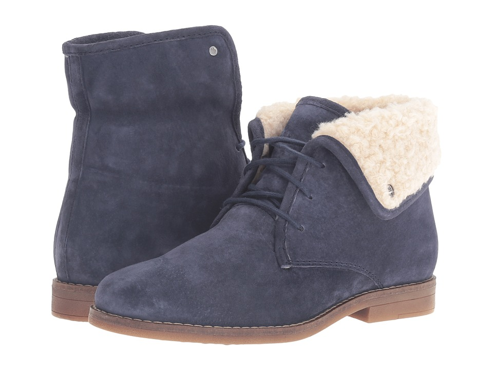 Hush Puppies - Marthe Cayto (Navy Suede) Women's Pull-on Boots
