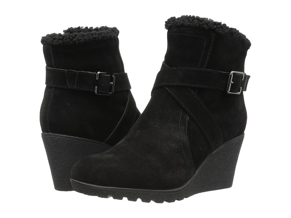 Hush Puppies - Amber Miles IIV (Black Waterproof Suede) Women's Pull-on Boots