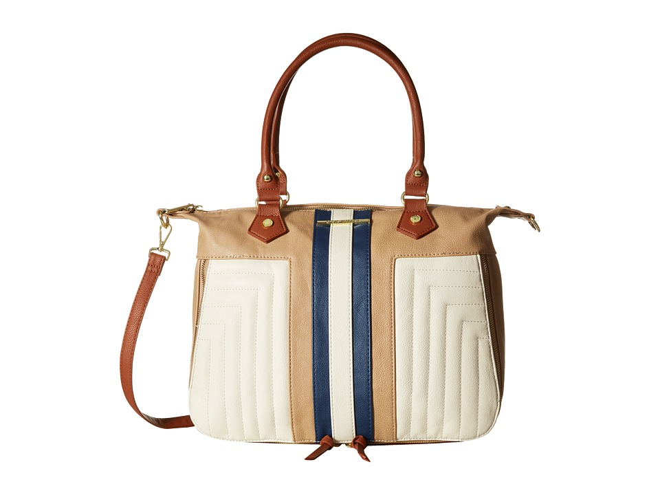Steve Madden - Bkelly Satchel (Bone/Taupe/Navy) Satchel Handbags