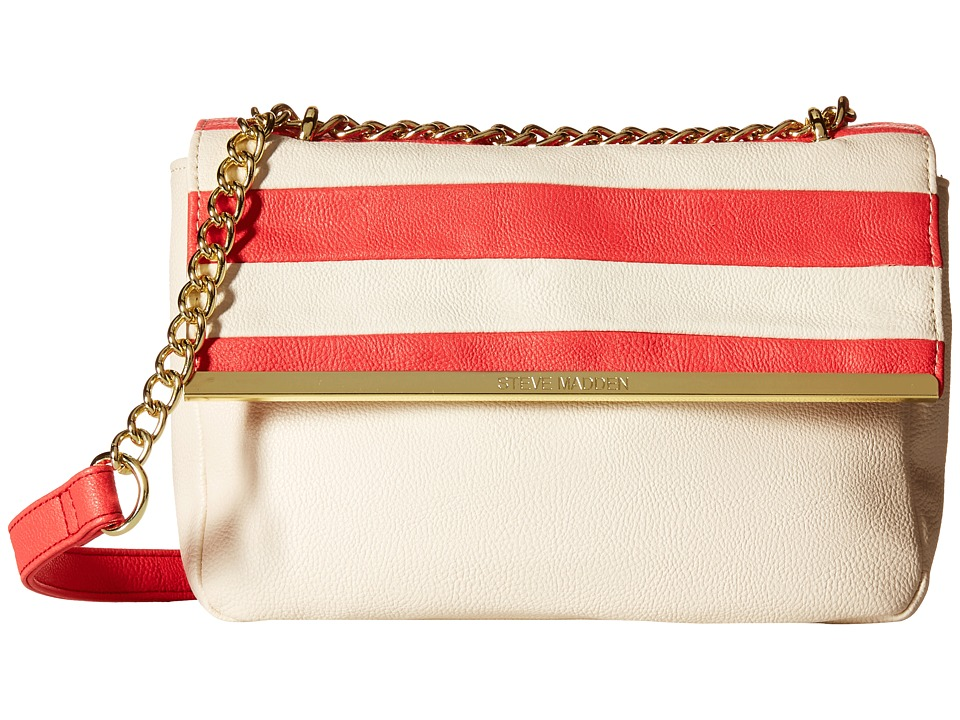 Steve Madden - Bdorothy Crossbody (Bone/Coral Stripe) Cross Body Handbags
