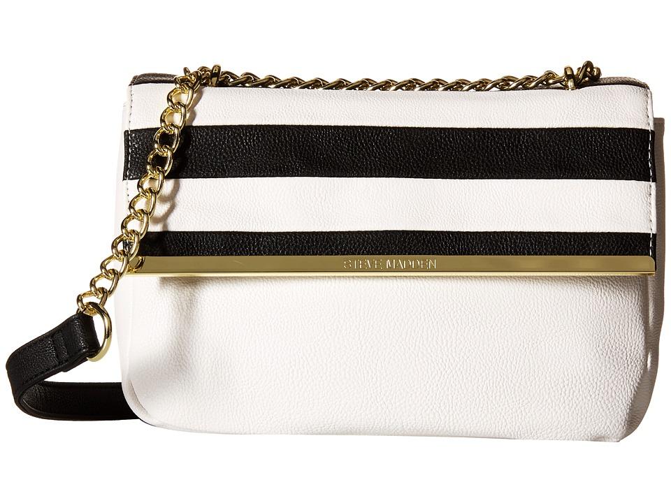 Steve Madden - Bdorothy Crossbody (White/Black Stripe) Cross Body Handbags