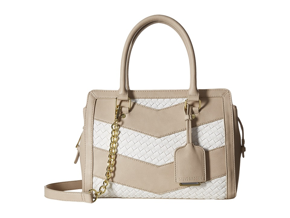 Steve Madden - Bwaverly Satchel (Fog/White) Satchel Handbags