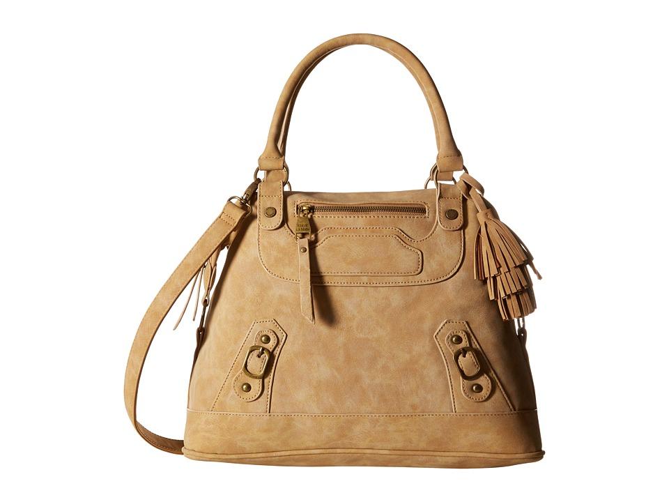 Steve Madden - Bcrissa Nubuck Satchel (Taupe/Gold) Satchel Handbags