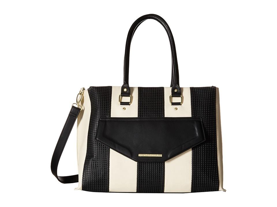 Steve Madden - Balissa Tote (White/Black/Gold) Tote Handbags