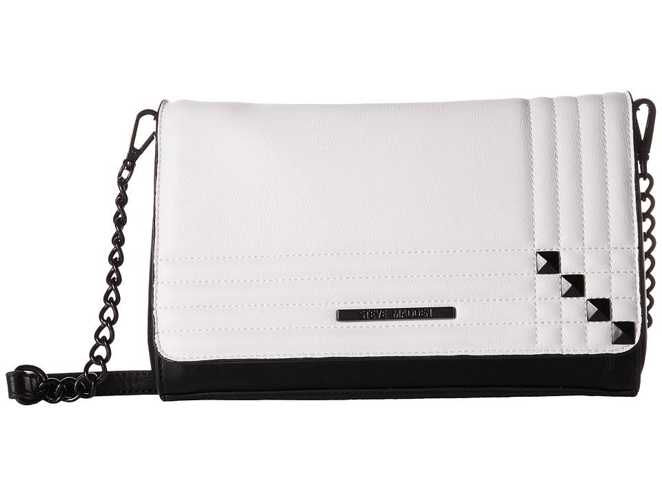 Steve Madden - Bjane Crossbody (Black/White) Cross Body Handbags