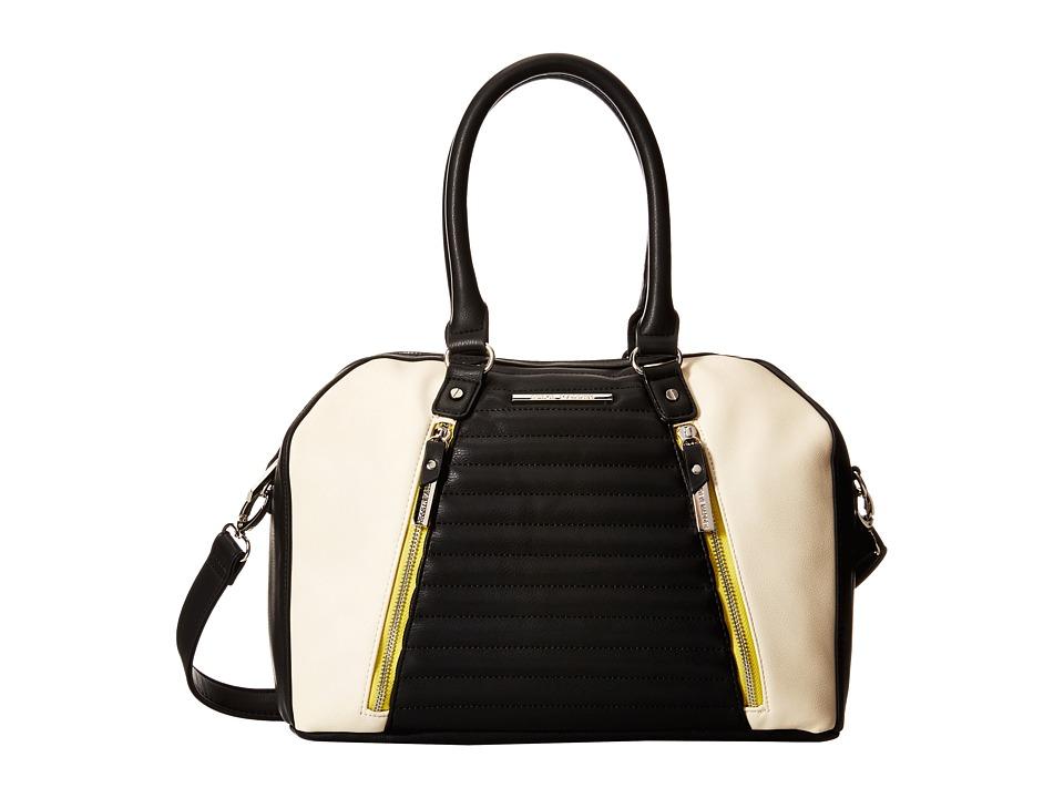 Steve Madden - Bdahlia Satchel (Black/Bone/Chartreuse) Satchel Handbags