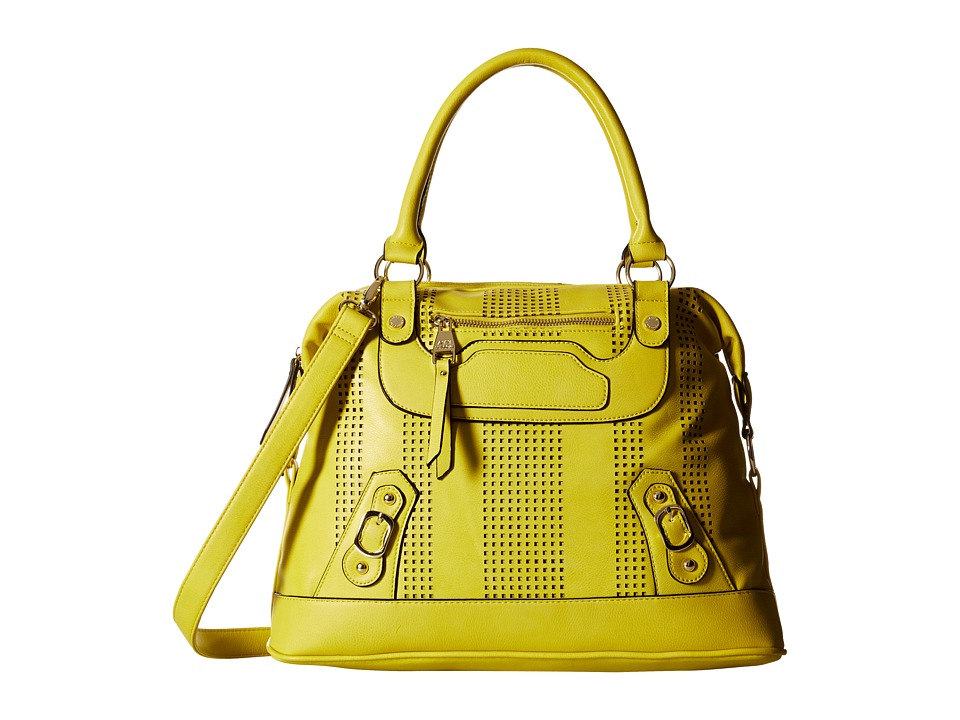 Steve Madden - Bcrissa Perf Satchel (Yellow) Satchel Handbags