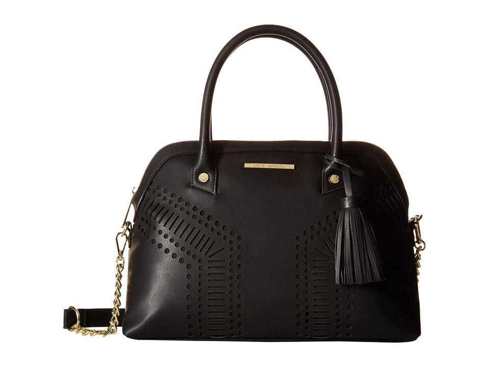 Steve Madden - Blassie Satchel (Black/Gold) Satchel Handbags