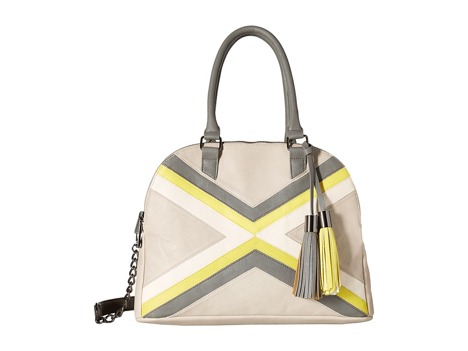 Steve Madden - Bexx Satchel (Fog/Slate/Chartreuse) Satchel Handbags