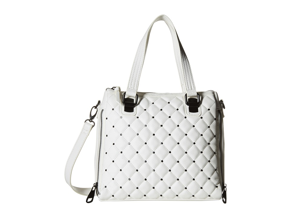 Steve Madden - Bstudley Mini Satchel (White/Black) Satchel Handbags