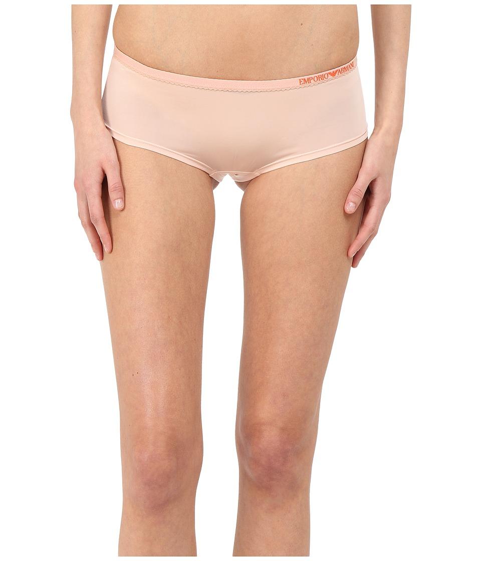 Emporio Armani - Visability Bi-Colour Microfiber Cheeky Pants (Pale Blush) Women's Underwear