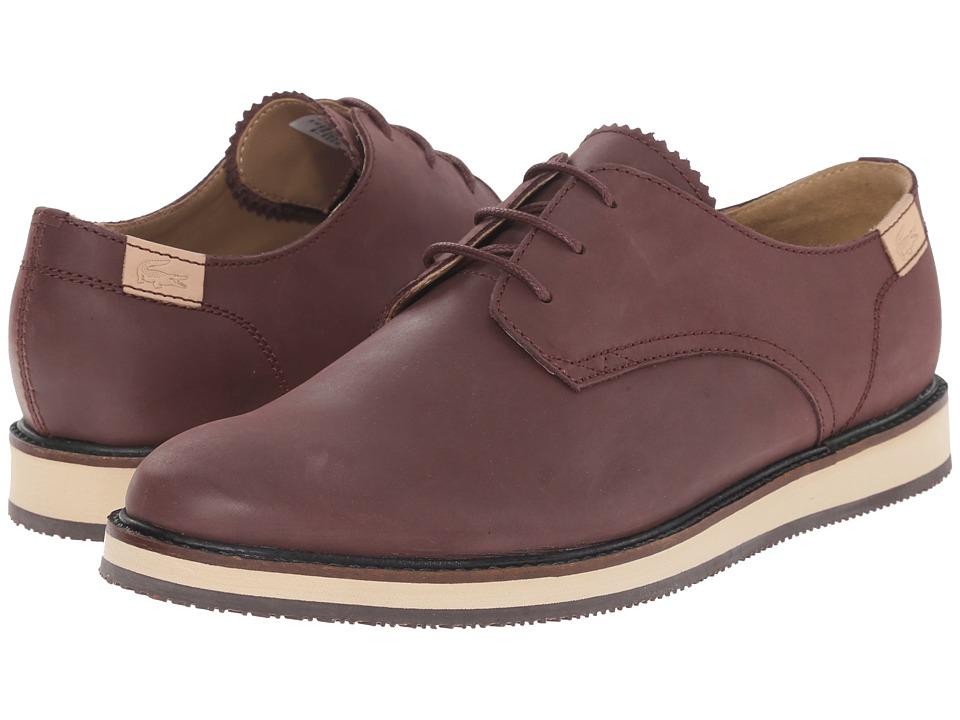 Lacoste - Millard Lace (Dark Brown) Men's Shoes