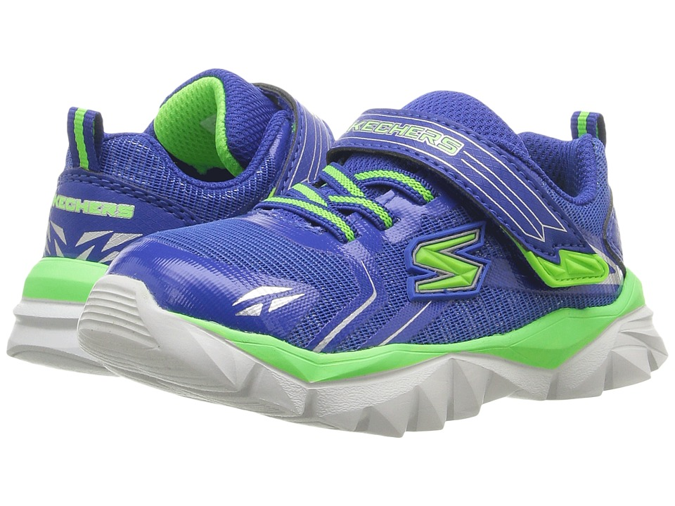 SKECHERS KIDS - Electronz Blazar (Toddler) (Blue/Lime) Boy's Shoes