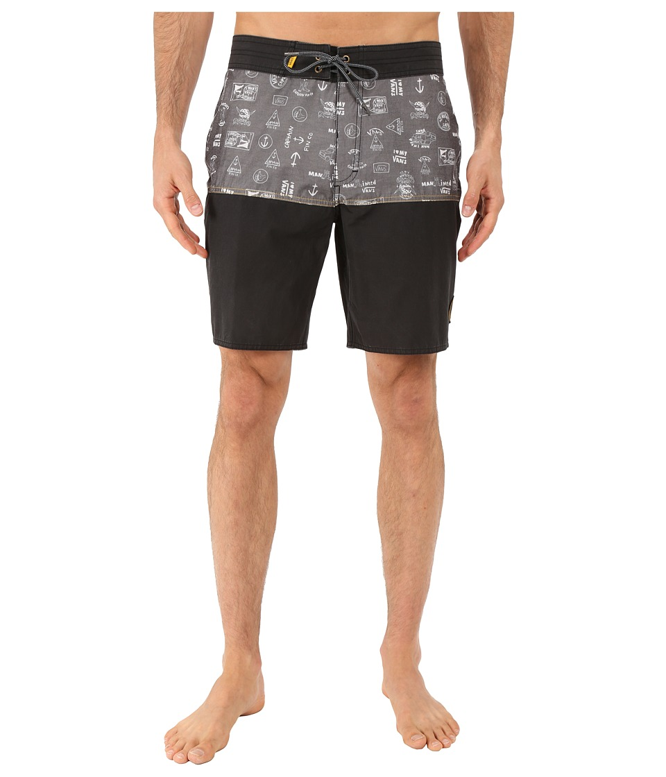 Vans Middles Boardshorts (Black (Captain Fin Co.)) Men