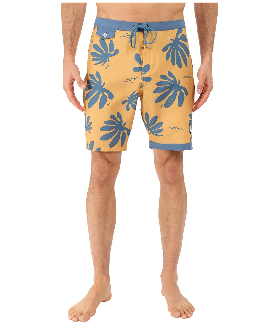 Vans - JT TrimLine Boardshort (Amber Gold/Blue Ashes) Men's Swimwear