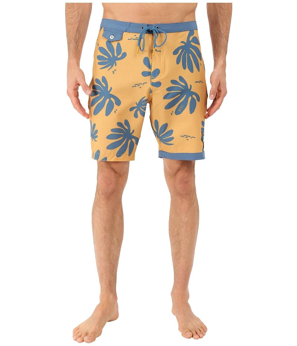 Vans - JT TrimLine Boardshort (Amber Gold/Blue Ashes) Men's Swimwear