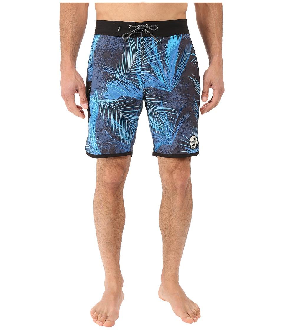 Vans - Mixed Scallop Boardshorts (Black/Acid Palm) Men's Swimwear
