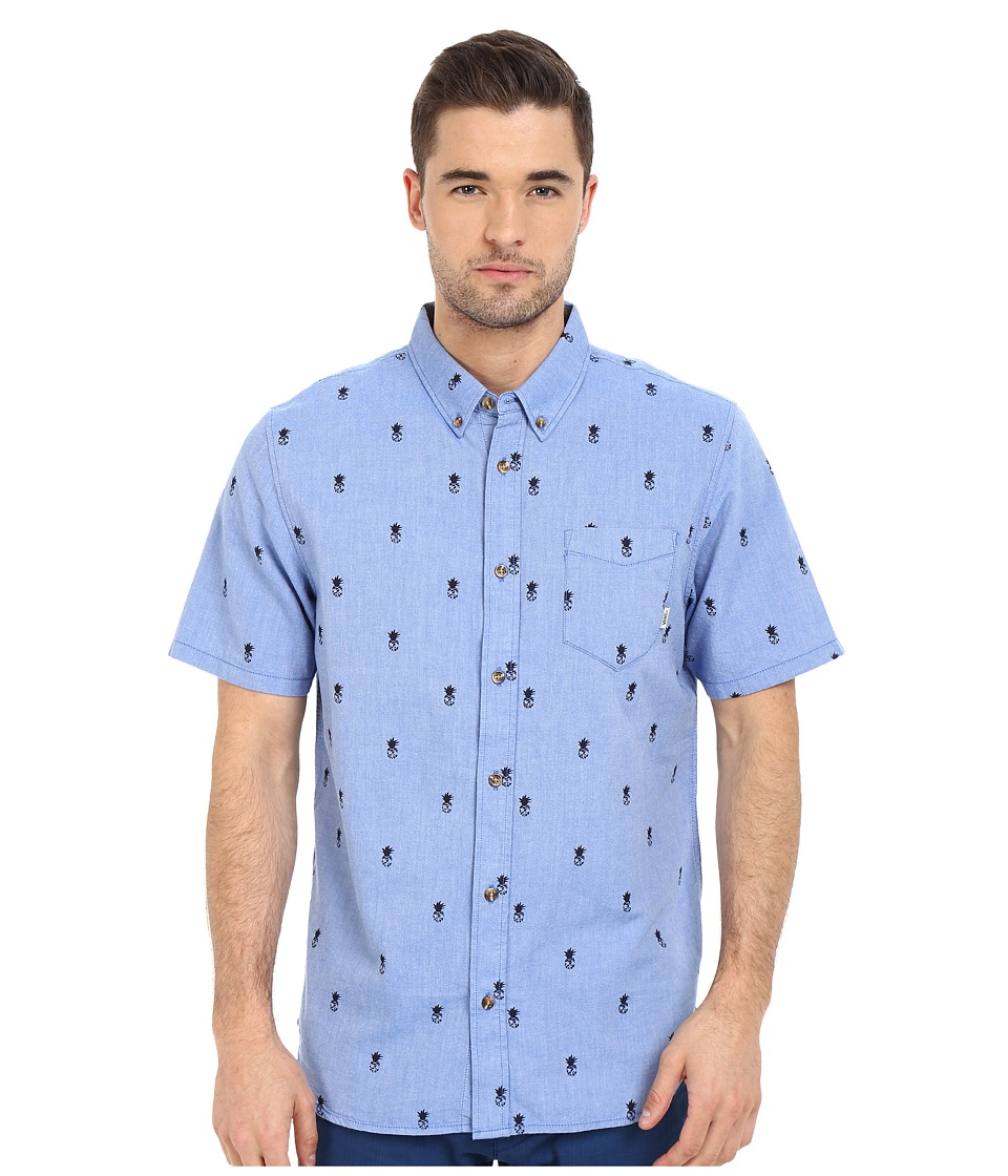 Vans - Houser S/S (Victoria Blue Forbidden Fruit) Men's Clothing