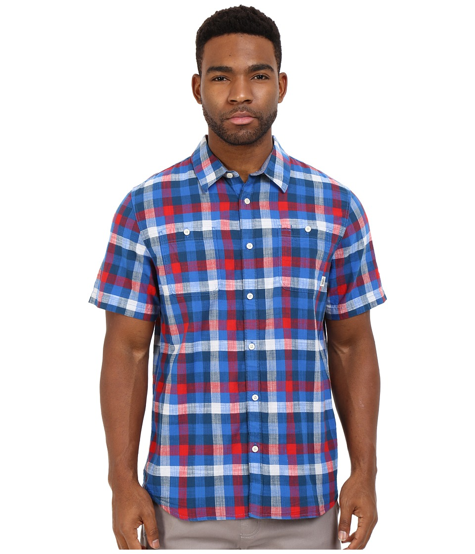 Vans - Westwyck (Victoria Blue/Racing Red) Men's Clothing