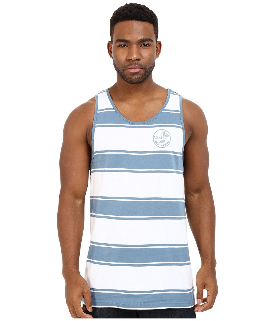 Vans - Bidwell Shirt (Bright White/Bluestone) Men's Sleeveless