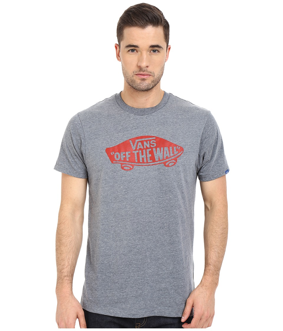 Vans - Vans OTW Tee (Heather Grey/Racing Red) Men's T Shirt