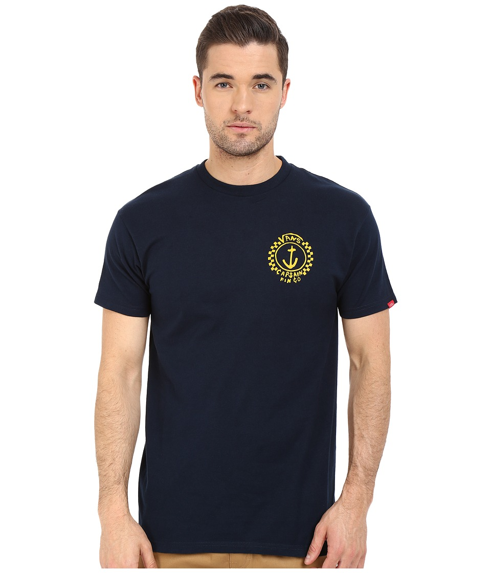 Vans - Capt Fin Anchor Tee (Navy) Men's T Shirt