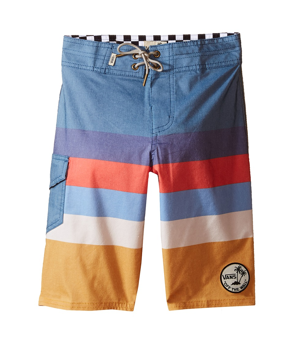 Vans Kids - Marview Boardshorts (Little Kids/Big Kids) (Blue Ashes/Amber Gold) Boy's Swimwear