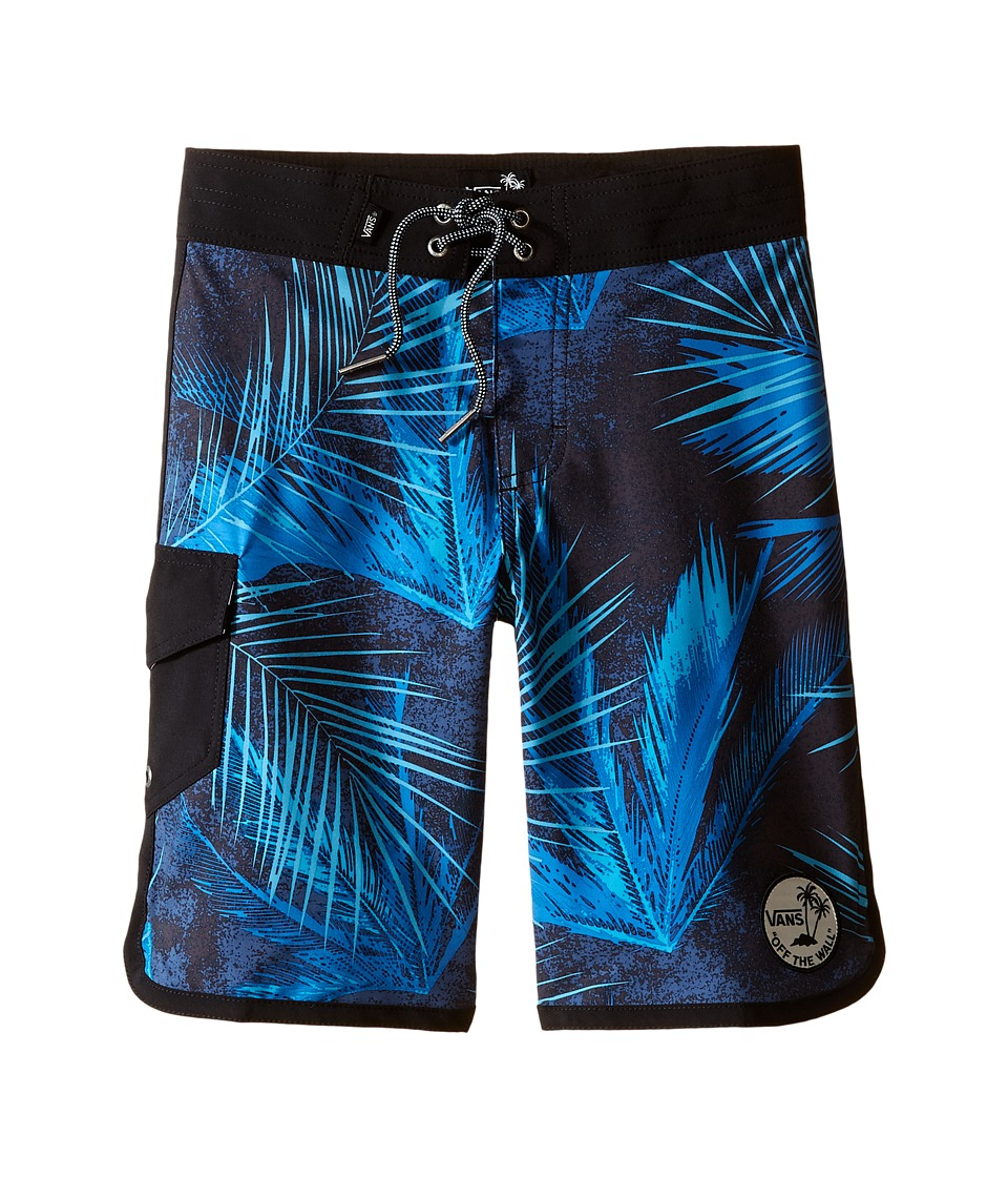 Vans Kids Mixed Scallop Boardshorts (Little Kids/Big Kids) (Black/Acid Palm) Boy